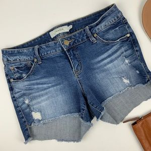 TORRID Cut Off Distressed Jean Denim Shorts 12